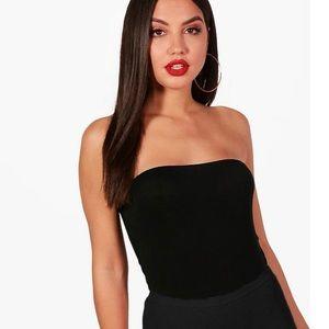 Black strapless bodysuit size 8 **NEW W/ TAGS